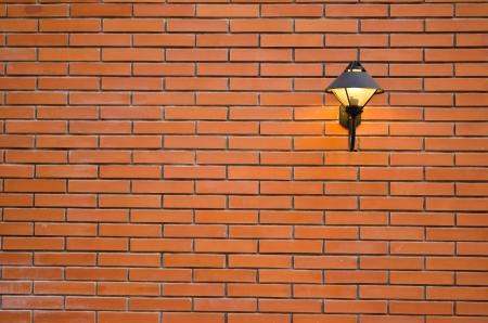modernlamp on the brick wall photo