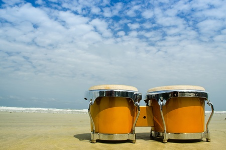 latin percussion called bongo on the beach Stock Photo - 14091401