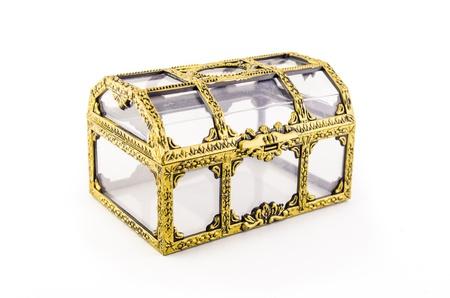 emty plastic treasure box on white background Stock Photo - 14552646