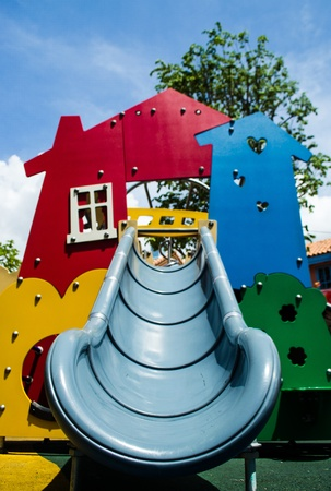colourful plastic children toy in public park Stock Photo - 14638751