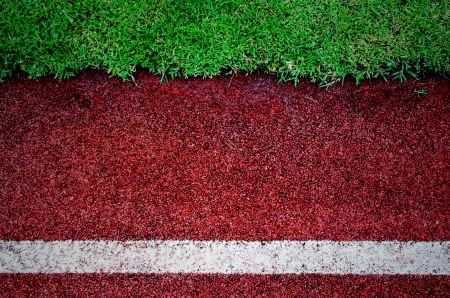 texture of running track cover with rubber photo