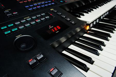 close up of piano keys photo