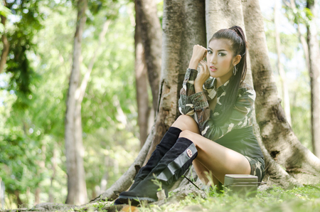 sexy women in army clothes