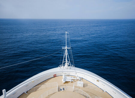 front view of cruise deck Stock Photo