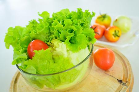 bowl of vetgetable on white background Stock Photo