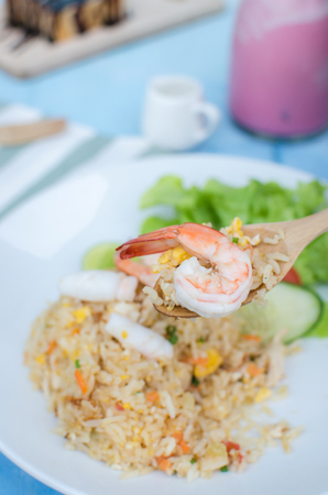 seafood fried rice is thai style food