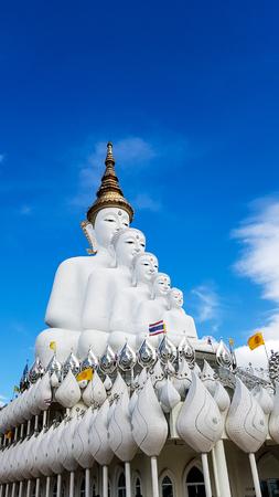 giant white buddha statue, the land mark of Wat Pra That Pha Sorn Kaew