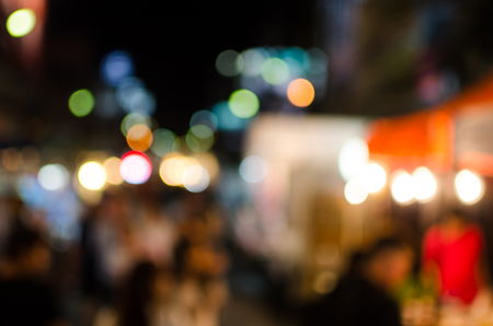 bokeh of market place in thailand