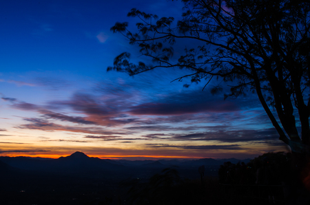 view from Phu Thok, Chiang Khan,Thailand in the morning