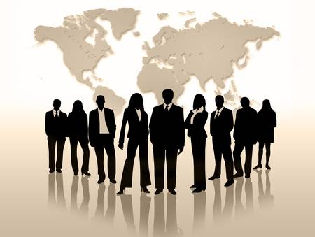 shades: Global People Business men and women Stock Photo