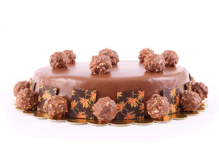 desalination: chocolate cake with nuts balls
