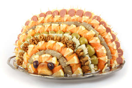 Appetizer Canape tray look like urchin