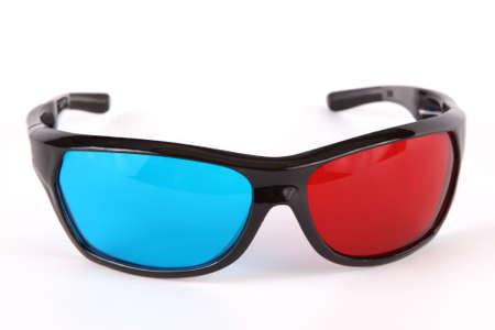 ed: 3d Vision plastic glasses isolated on white