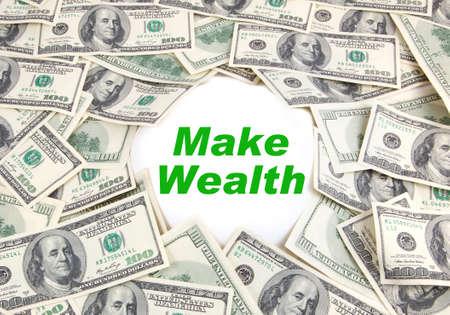 earn money: Earn Money on background Hundred Dollars - make money Stock Photo