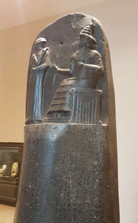 November 03, 2017 Paris: The Code of Hammurabi is a well-preserved Babylonian code of law of ancient Mesopotamia, dated to about 1754 BC.