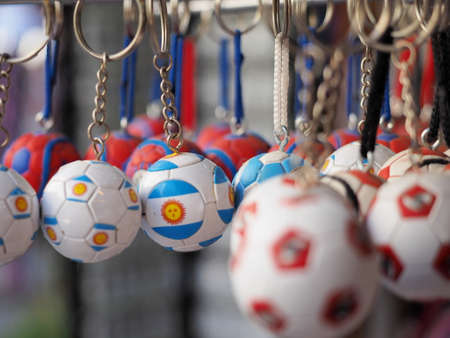 key chain: Argentinia football soccer key chain