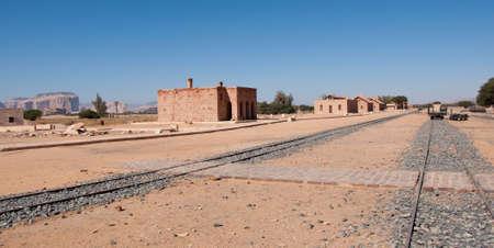 grave site: abandoned railway station of Hejaz Railway from Damascus to Saudi Arabia