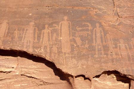 grave site: pre-Islamic rock paintings in old town of Al-Ula in Saudi Arabia