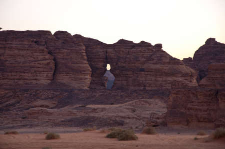nabatean: Bowling pin rock in Saudi Arabia