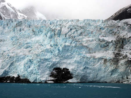 antarctica: Glacier in Drygalski Fjord in South Georgia Antarctica