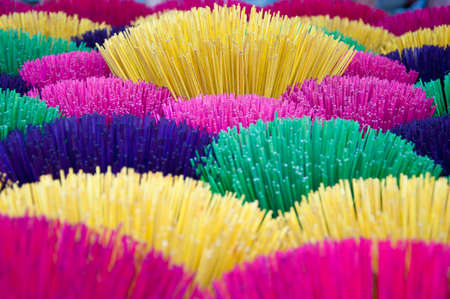 incense sticks: colorful incense sticks at local market in Vietnam