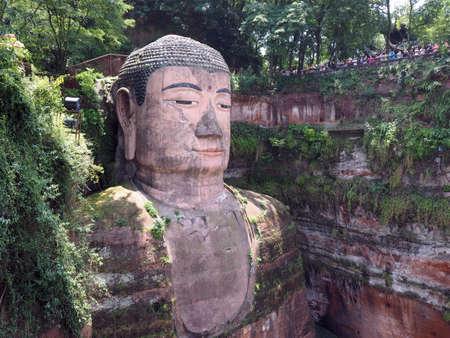 grand buddha: Leshan Grand Giant Buddha statue in Sichuan province China