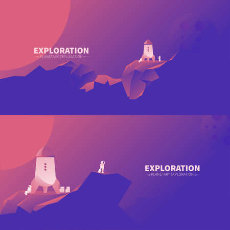 exploration: Exploration of other planets landscape