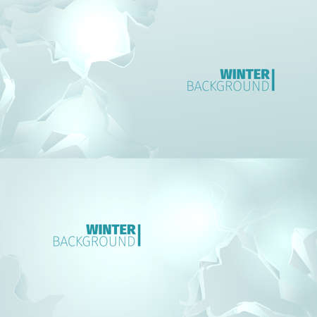 blockage: Abstract horizontal winter backround with snow blockage Illustration