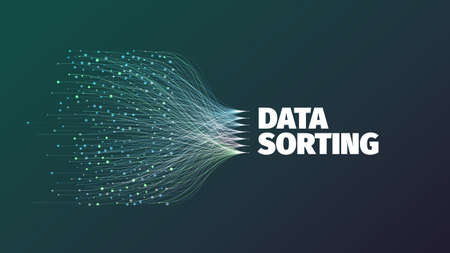 Data sorting abstract vector illustration for web