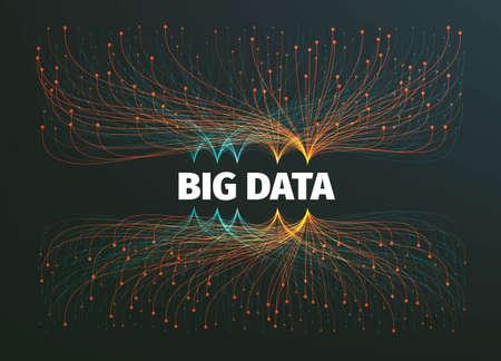 大きなデータの背景イラストです。データ ストリーム。インフォ グラフィック
