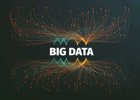 big data background illustration. Data streams. Infographic