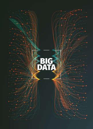 big data background illustration. Data streams. Infographic