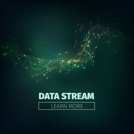 torrent: Abstract data stream illustration. Technology futuristic background with information flow and glowing. Illustration