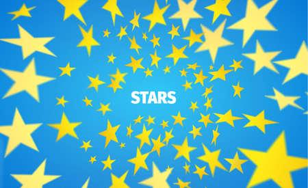 vortex of star. Motion blurred polygons