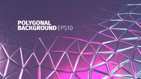 shiny background: Retro background. Vector shiny banner.Polygonal backdrop