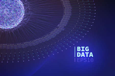 dazzle: Abstract big data illustration. Information filtering. data mining Illustration