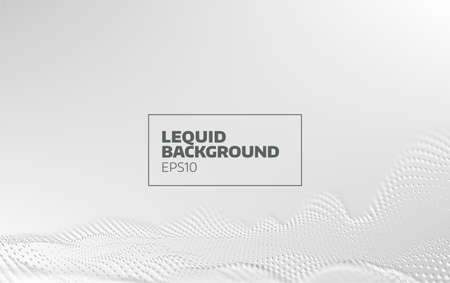 Abstract liquid motion vector background. 3d particle flow. Minimal design