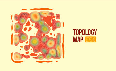 Topography vector map. terrain height slices. Simple infographic and diagramm
