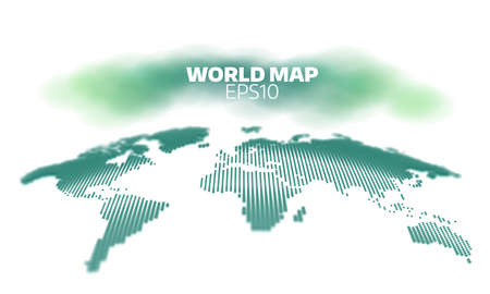 Abstract world map dot grid background. geography atlas Illustration