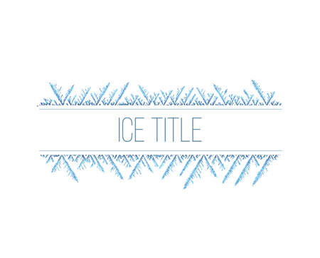 Abstract ice pattern. Vector snow background. Line style frost winter pattern. Stock fotó - 94882400