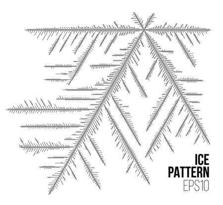 추상 얼음 패턴입니다. 벡터 눈 배경입니다. 겨울 스타일 서리 라인 스타일
