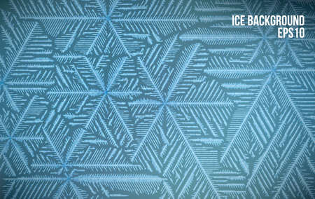 Abstract ice pattern vector snow background. Line style frost winter pattern. Stock fotó - 94823760