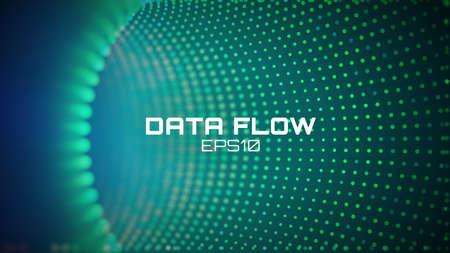 Data flow tunnel. Geometric round background. Coding development abstact Stock fotó - 96522777