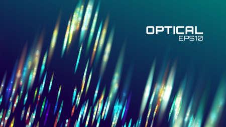Stripe abstract background, lens bokeh neon motion, digital wave.