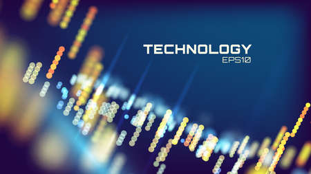 Virtual cyberspace tehcnology background. Cyber hud tech. Futurisic interface Stock fotó - 96522783