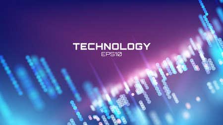 Virtual cyberspace technology background on Futuristic interface