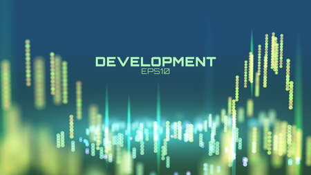 Abstract software development process. engineering presentation research background Illustration