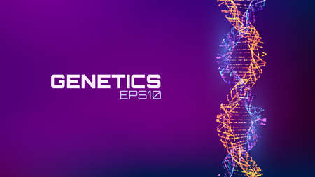 Abstract fututristic dna helix structure. Genetics biology science background. Future dna technology. 일러스트