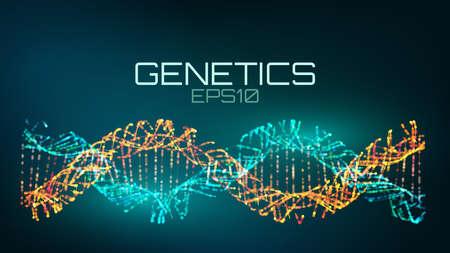 Genetics futuristic technology. genetically modified bio tech helix 일러스트