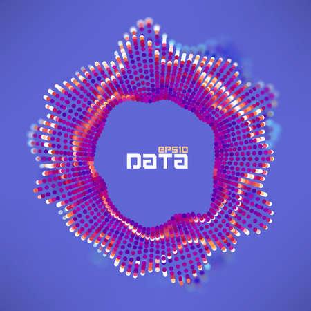 Abstract data sphere turbulence wave. 일러스트